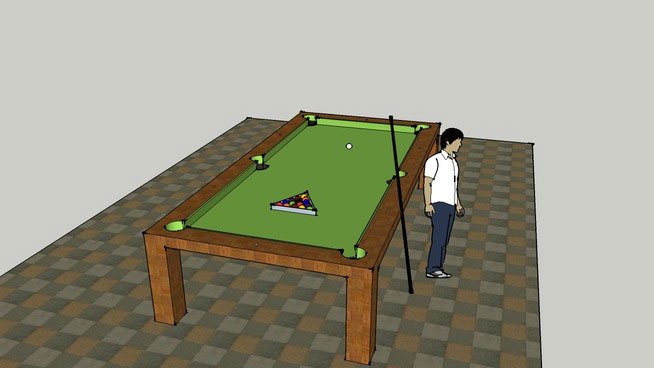 Sketchup components 3d warehouse pool table for Pool design sketchup