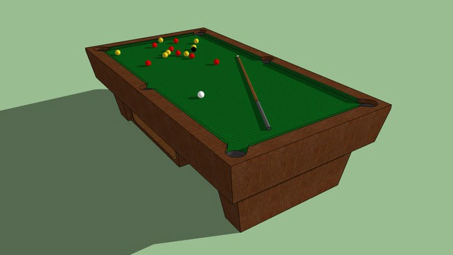 Sketchup components 3d warehouse pool table simple model for Pool design sketchup