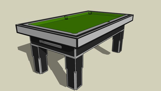 Sketchup components 3d warehouse 7foot pool table for Outdoor furniture 3d warehouse