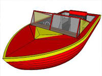 Speed Boat in SketchUp