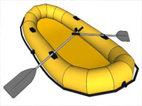 Yellow Row Boat in SketchUp