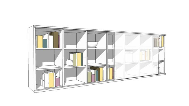 Interluebke Studimo bookshelf