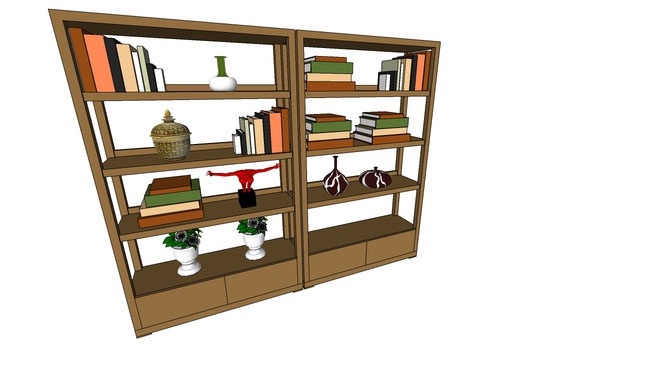 Sketchup components 3d warehouse bookshelf libreria for Outdoor furniture 3d warehouse
