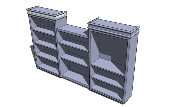 Sketchup components 3d warehouse bookshelf bookshelf for for Outdoor furniture 3d warehouse