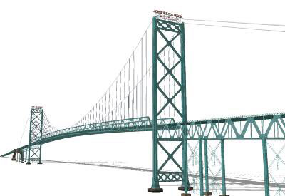 Sketchup Components D Warehouse Bridge Ambassador Longest Bridge - Longest bridge in the usa