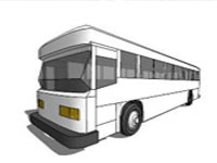 Georgeous Bus in SketchUp