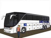Greyhound Bus in SketchUp
