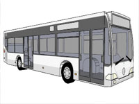 Mercedes Two Door Bus in SketchUp