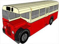 Paper Model Bus in SketchUp