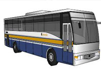 Provincial Bus in SketchUp
