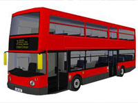 UK Double Daker Bus in SketchUp