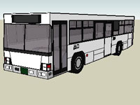 White Erga Bus in SketchUp