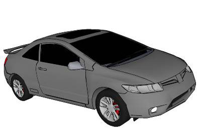 Sketchup Components 3d Warehouse Cars 2006 Honda Civic Si