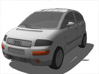 Audi Car Auto in Sketchup
