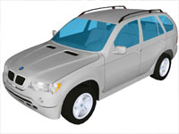 BMW X5 Car in Sketchup