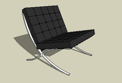 Sketchup components 3d warehouse chair barcelona chair for Outdoor furniture 3d warehouse