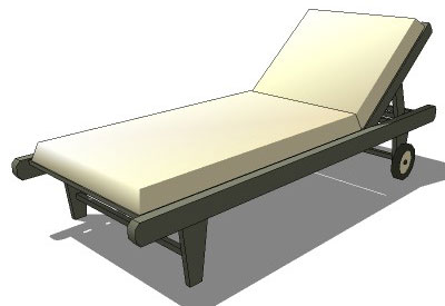 Sketchup components 3d warehouse chair cushion lounge chair for Outdoor furniture 3d warehouse