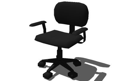Sketchup components 3d warehouse chair fabric office chair for Outdoor furniture 3d warehouse