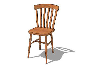 Sketchup components 3d warehouse chair wooden farmhouse chair for Outdoor furniture 3d warehouse