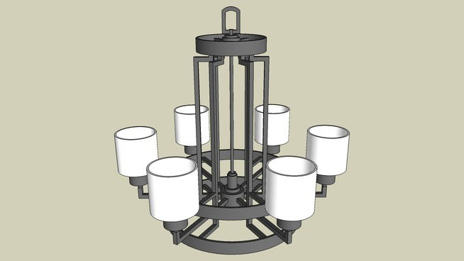 Chandelier model design in sketchup free 3d chandelier download 6 light chandelier aloadofball