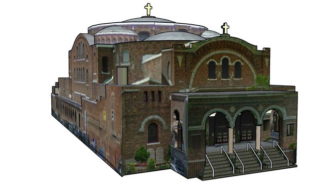 Free download SketchUp Components 3D Warehouse – Church