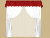 Verticle Curtain Set in Sketchup
