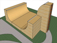 3D Half Pipe Model in SketchUp