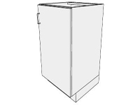 3D Base sink cabinet 1 door hinged right in sketchup