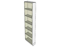 3D Tall open shallow cabinet in sketchup