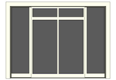 Commercial double door with side lights  sc 1 st  Sketchup4architect.com & sketchup components 3d warehouse Door: Commercial double door with ... pezcame.com