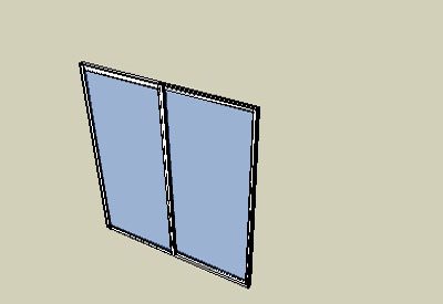 Aluminium Sliding Door & sketchup components 3d warehouse Door: Aluminium Sliding Side Window