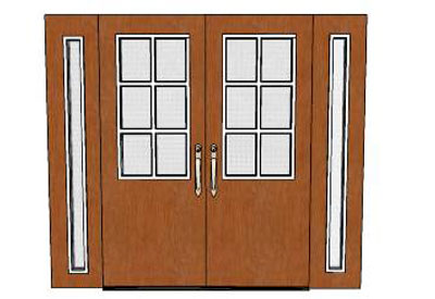 Architectural Double Entry Doors  sc 1 st  Sketchup4architect.com & sketchup components 3d warehouse Door: Double Entry Doors