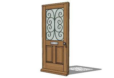 Sketchup components 3d warehouse door entrance doors for Door 3d warehouse