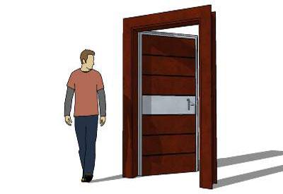 Maple Door in SketchUp · Massive Front Door ...  sc 1 st  Sketchup4architect.com & SketchUp Components 3D Warehouse - Door