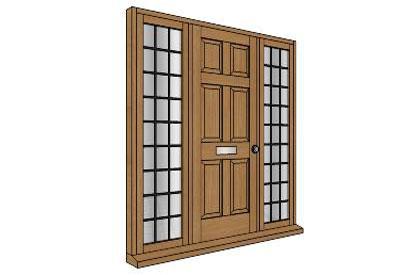 И двери окна для скетчап