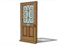 Entrance Doors in Sketchup