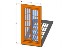 Casement Door in SketchUp