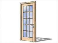 Maple Door in SketchUp
