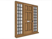 Panel Door in SketchUp