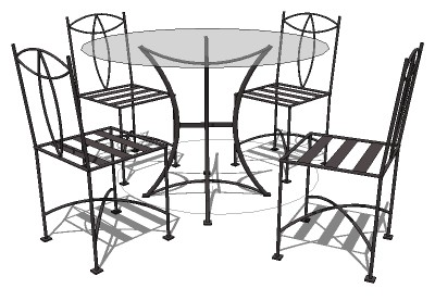 Sketchup components 3d warehouse exterior furniture iron for Outdoor furniture 3d warehouse