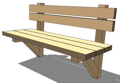 Sketchup components 3d warehouse exterior furniture wood for Outdoor furniture 3d warehouse