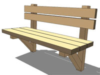 Wood trail bench
