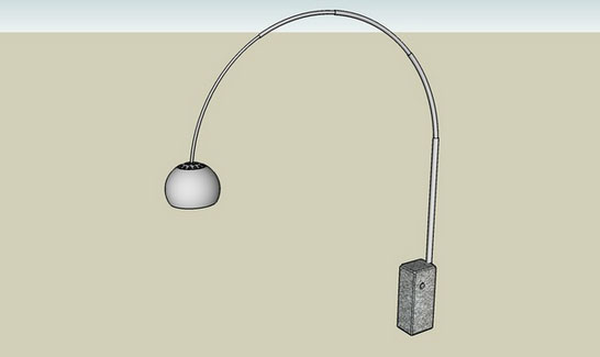 Sketchup Components 3d Warehouse Arco Floor Lamp