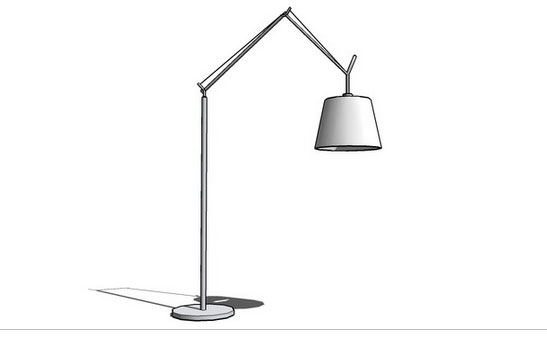 Cable stayed floor lamp