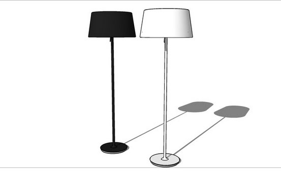 Ikea Floor Lamp Glass Shade ~ Sketchup components 3d warehouse Ikea Kulla Floor lamp