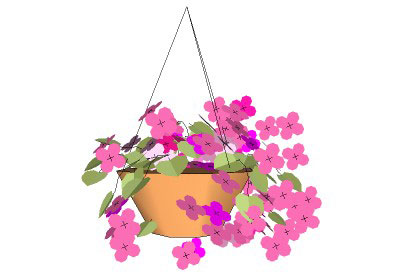 Sketchup Components 3d Warehouse Flower Hanging Basket Flower