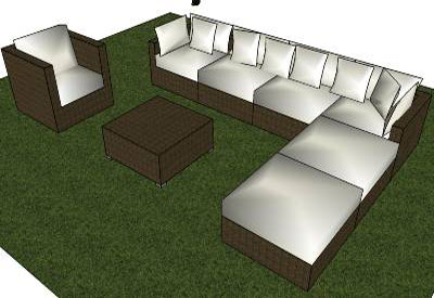 Sketchup components 3d warehouse furniture garden furniture for Outdoor furniture 3d warehouse