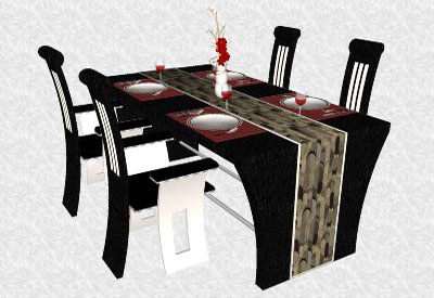 Sketchup components 3d warehouse furniture modern dining set for Outdoor furniture 3d warehouse
