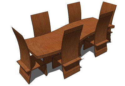 Sketchup components 3d warehouse furniture modern dining for Outdoor furniture 3d warehouse