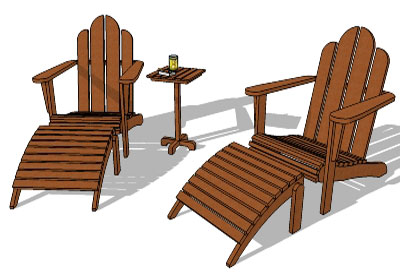 outdoor furniture in sketchup - Garden Furniture 3d